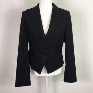 BCBGMAXAZRIA Black Wool Blazer Jacket